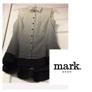 Mark Signature collection ombre polka dot Blouse